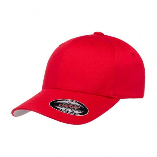 EMBROIDERED FLEXFIT YOUTH TWILL CAP