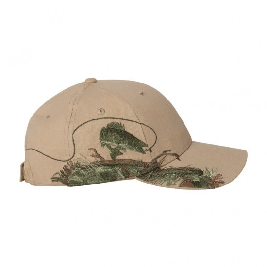 Dri Duck Walleye Cap Side