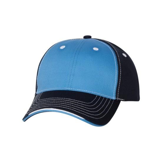 EMBROIDERED TRI-COLOUR CAP