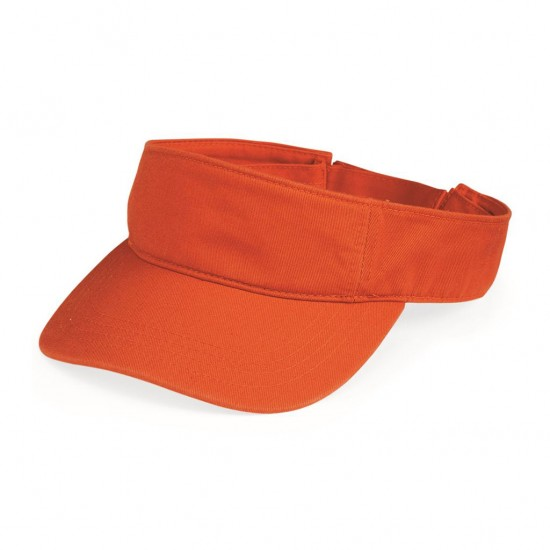 EMBROIDERED SPORTSMAN VALUE CAP BIO WASHED VISOR