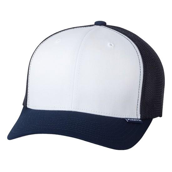 EMBROIDERED FLEXFIT MESH TRUCKER CAP
