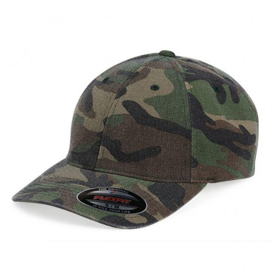 EMBROIDERED FLEXFIT FITTED CAMO CAP