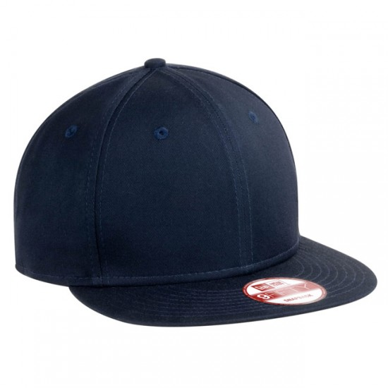 EMBROIDERED NEW ERA FLAT BILL SNAPBACK CAP