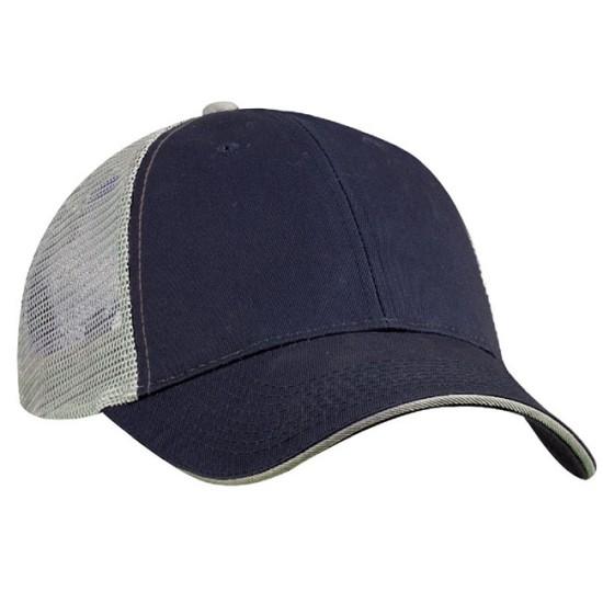 EMBROIDERED SANDWICH BILL TRUCKER CAP