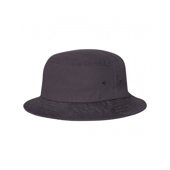 EMBROIDERED BIO-WASHED BUCKET HAT