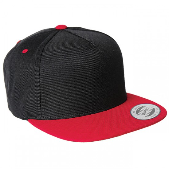 EMBROIDERED  FIVE-PANEL WOOL BLEND SNAPBACK